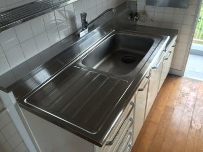 キッチン流し台のクリーニング(研磨)