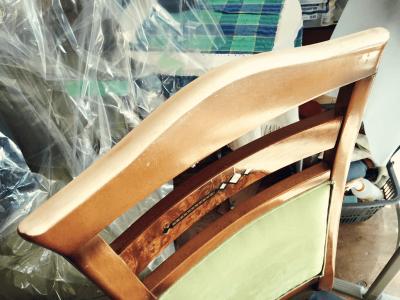 木製フレームの塗替え