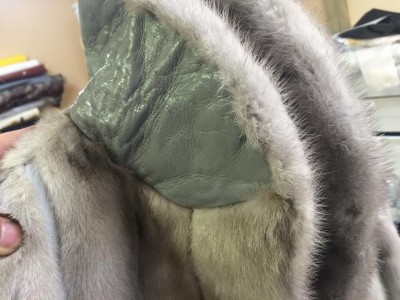 チンチラハーフコートのカビ洗浄・カラーリペア