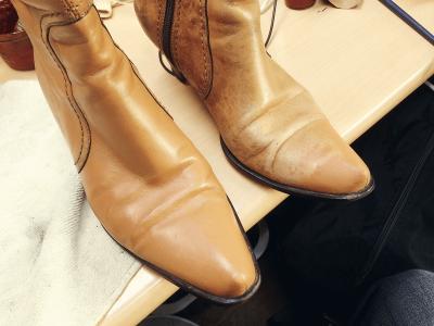 靴補色(カラーリペア)、染め替え(布・スエード)
