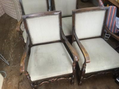 椅子の張り替え(座面、全面)