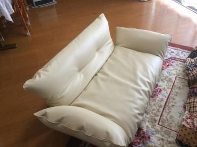 可動式リビングソファーの張り替え