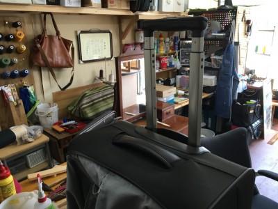 トローリーバッグの取っ手補修