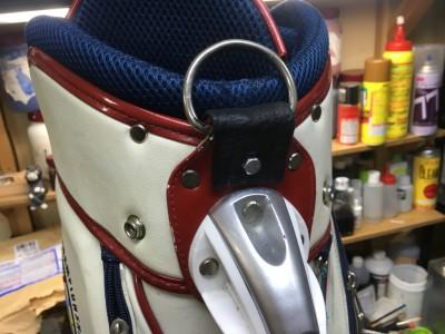 ゴルフバッグの肩掛け受け破れ補修