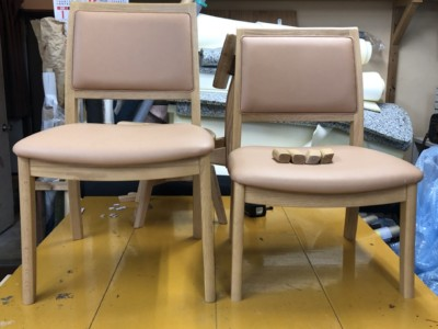 ダイニングテーブル、椅子セットの脚カット